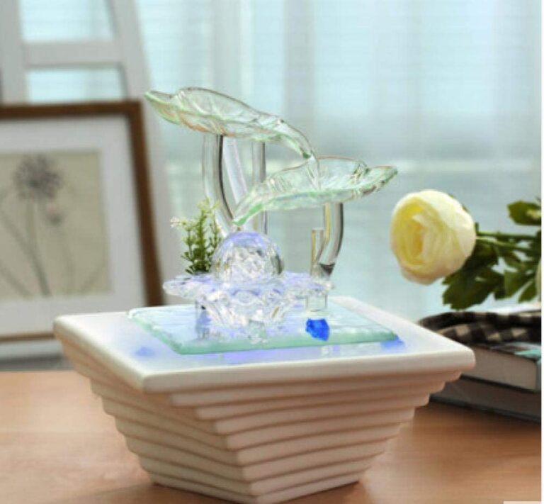 Blattbrunnen Wasserfall Keramik