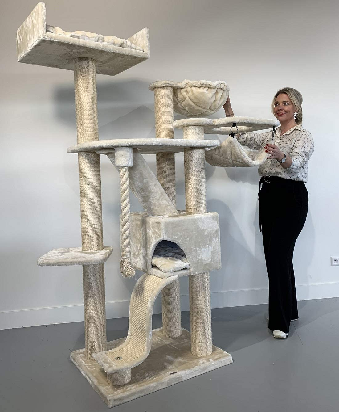 RHRQuality Katzenkratzbaum 180cm