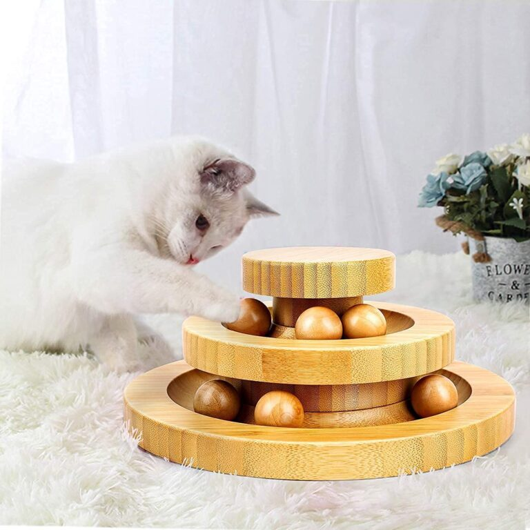 Holzkatzenspielzeug